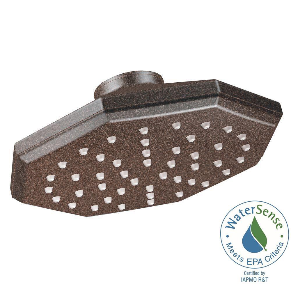 MOEN Felicity Eco-Performance Single Function 1-Spray 7 in. Rainshower Showerhead in Oil Rubbed Bronze