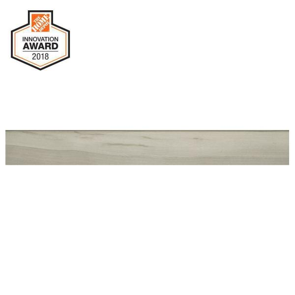 Linen Wood 3 in. x 24 in. Glazed Porcelain Bullnose Trim Tile (0.48 sq. ft. / piece)