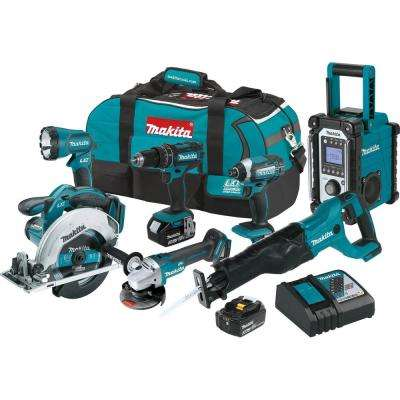 18-Volt 3.0Ah LXT Lithium-Ion Cordless Combo Kit (7-Piece)