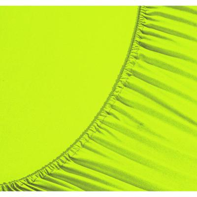 1500 Series 4-Piece Lime Triple Marrow Embroidered Pillowcases Microfiber Twin XL Size Bed Sheet Set
