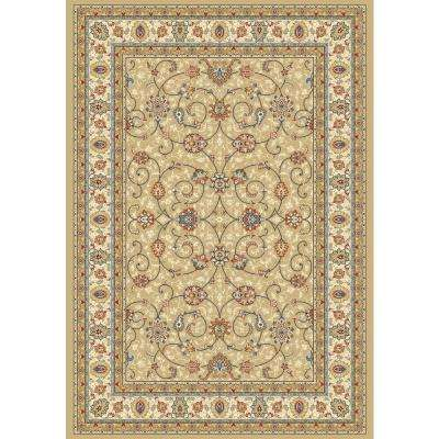 Vaughan Light Gold/Ivory 9 ft. 2 in. x 12 ft. 10 in. Indoor Area Rug