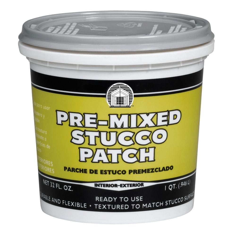 How to patch stucco cracks - Phenopatch Pre Mixed Stucco Patch 1 Qt Off White