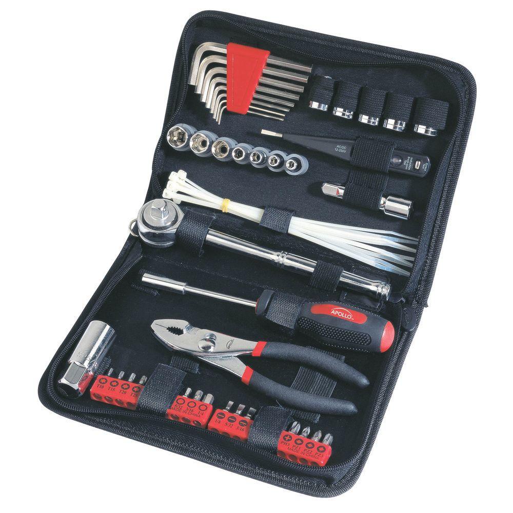 Click here to buy Apollo Auto Tool Set in Zipper Case (56-Piece) by Apollo.