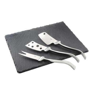 Cheese Knives Set with 8 by 10 in. Slate Tray