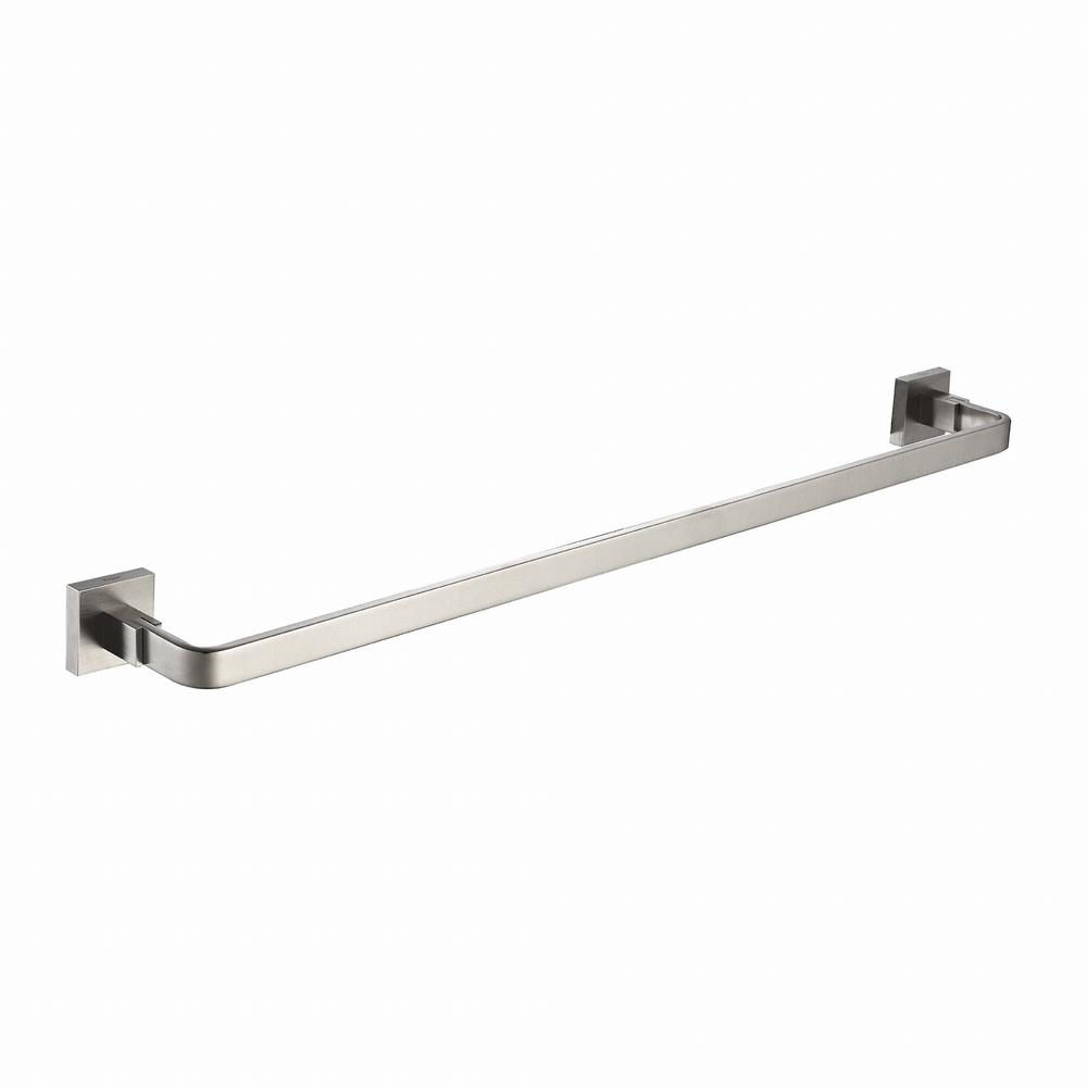 KRAUS Aura Bathroom 24 in. Towel Bar in Brushed Nickel
