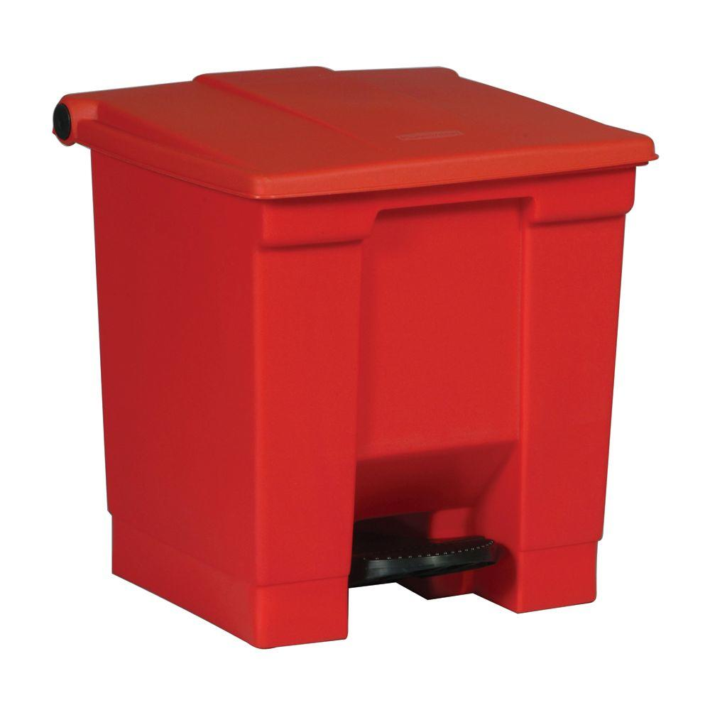 Rubbermaid Commercial Products 8 Gal. Red Fire-Safe Step-On Trash Can