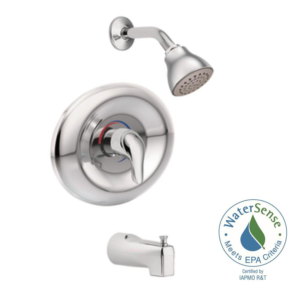 MOEN Chateau Single-Handle 1-Spray Tub and Shower Faucet in Chrome ...