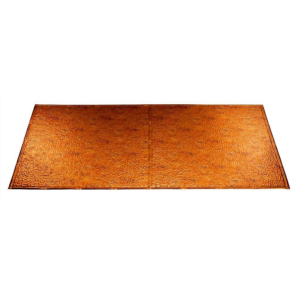 Fasade Border Fill 2 ft. x 4 ft. Muted Gold Lay-in Ceiling Tile