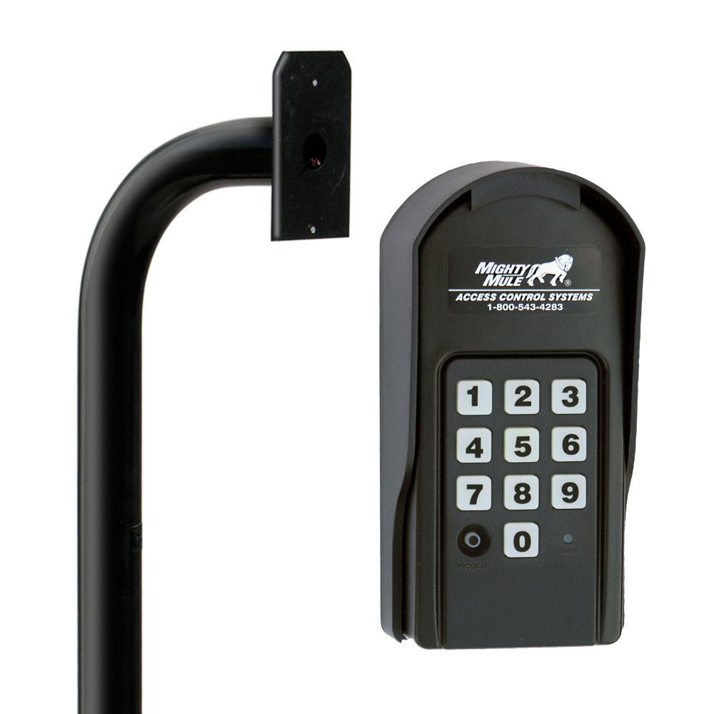 Mighty Mule Digital Keypad And Mounting Post Kit For Gate