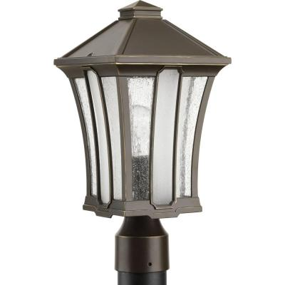 Twain Collection 1-Light Outdoor Antique Bronze Post Lamp