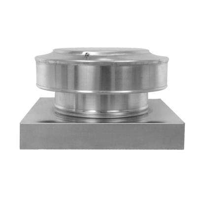 8 in. Dia. Aluminum Round Back Roof Vent with Curb Mount Flange in Mill Finish