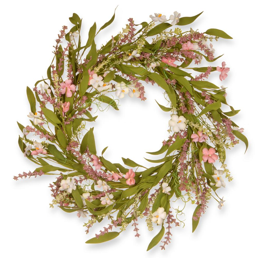 22 In Spring Wreath Ras Js8758w The Home Depot
