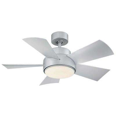 Elf 38 in. Indoor and Outdoor 5 Blade Smart Ceiling Fan in Matte White with 3000K LED Light Kit
