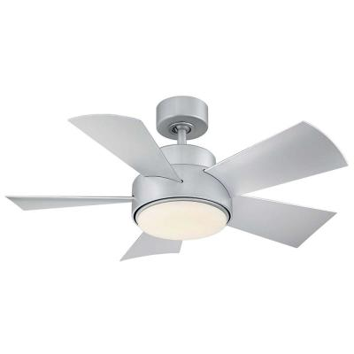 Elf 38 in. LED Indoor/Outdoor Titanium Silver 5-Blade Smart Ceiling Fan with 3000K Light Kit and Wall Control