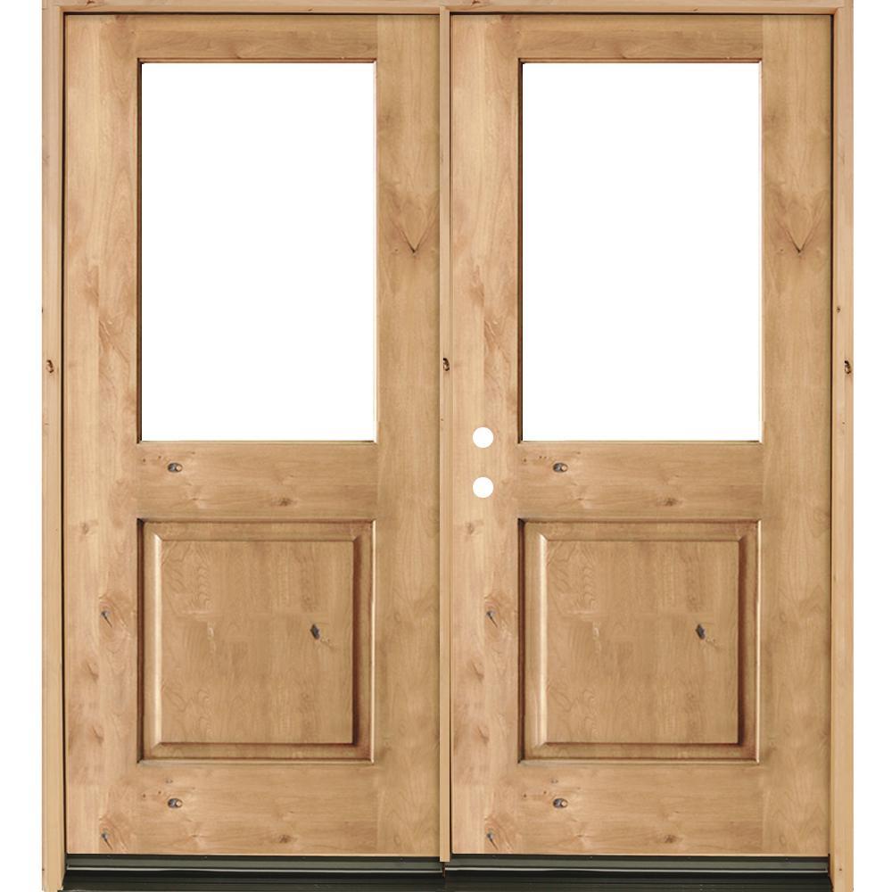 Double Door 64 X 80 Front Doors Exterior Doors The Home Depot