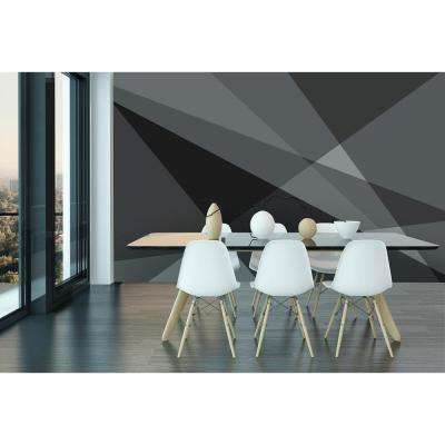 Grey Geometry Wall Mural