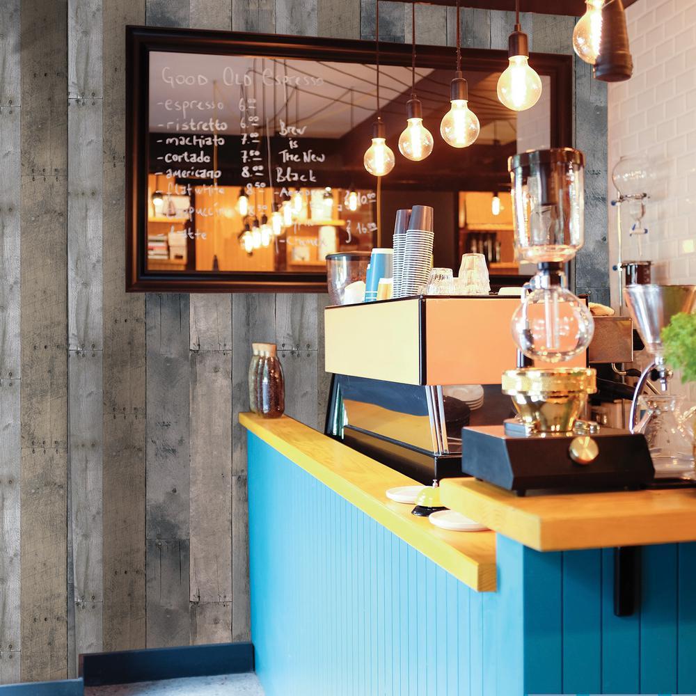 Multicolored Repurposed Wood Wallpaper