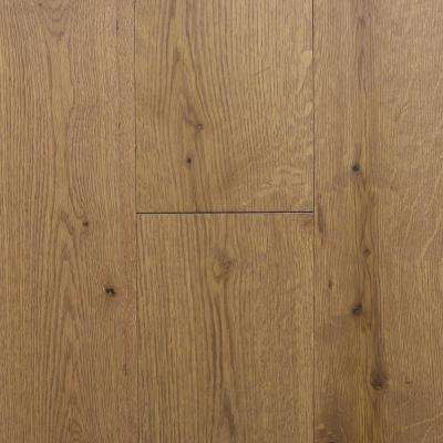 Take Home Sample - Castlebury Weathered Cottage Euro Sawn White Oak Solid Hardwood Flooring - 5 in. x 7 in.