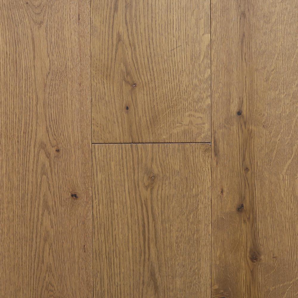 Take Home Sample - Castlebury Weathered Cottage Euro Sawn White Oak Solid Hardwood Flooring - 5 in. x 7 in.