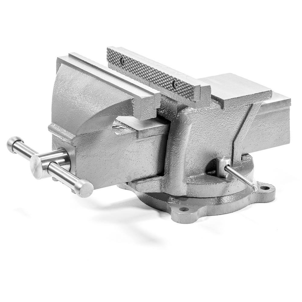 Brilliant Xtremepowerus 8 In Heavy Duty Forged Steel Bench Vise With Anvil Andrewgaddart Wooden Chair Designs For Living Room Andrewgaddartcom