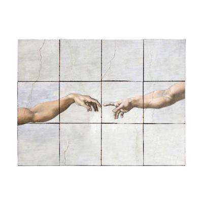 The Fall 24 in. x 18 in. Tumbled Marble Tiles (3 sq. ft. /case)