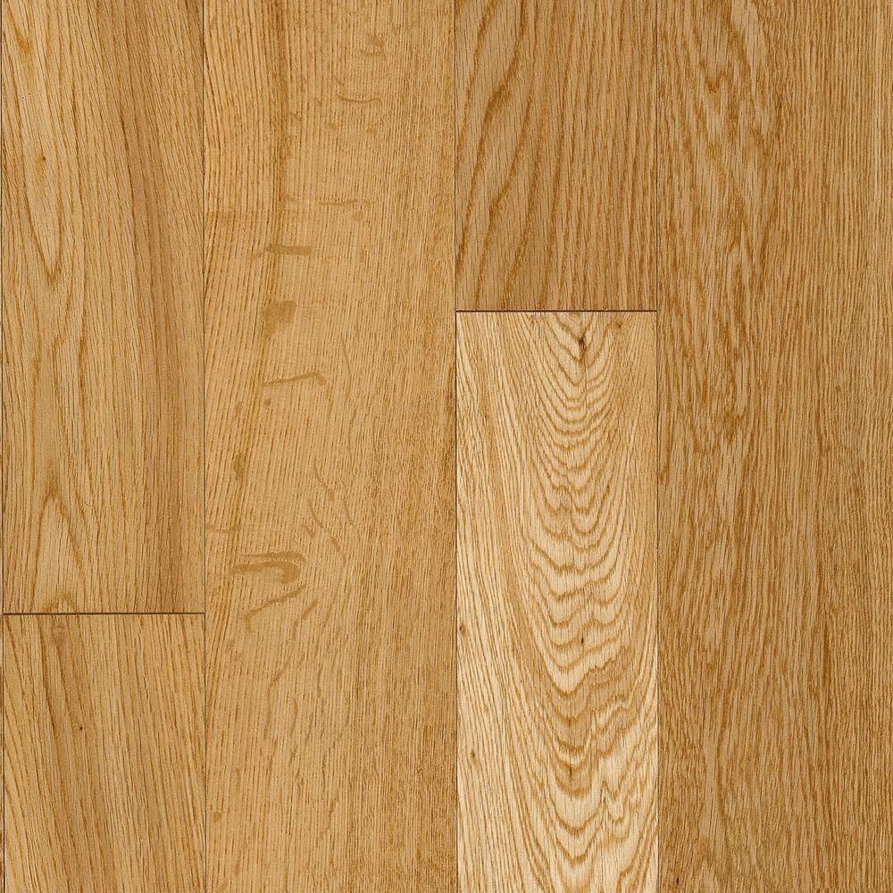 Bruce Natural Premium White Oak Solid Hardwood Flooring - 5 in. x 7 in. Take Home Sample-DISCONTINUED