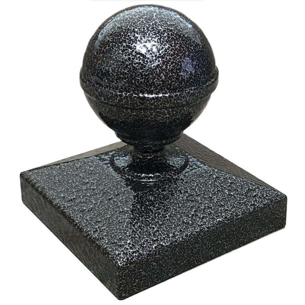 EZ Handrail 3 In. X 3 In. Silver Vein Ball Post Cap For EZ