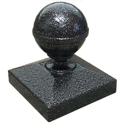 3 in. x 3 in. Silver Vein Ball Post Cap for EZ Handrail Posts
