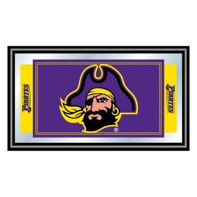 East Carolina University 15 in. x 26 in. Black Wood Framed Mirror