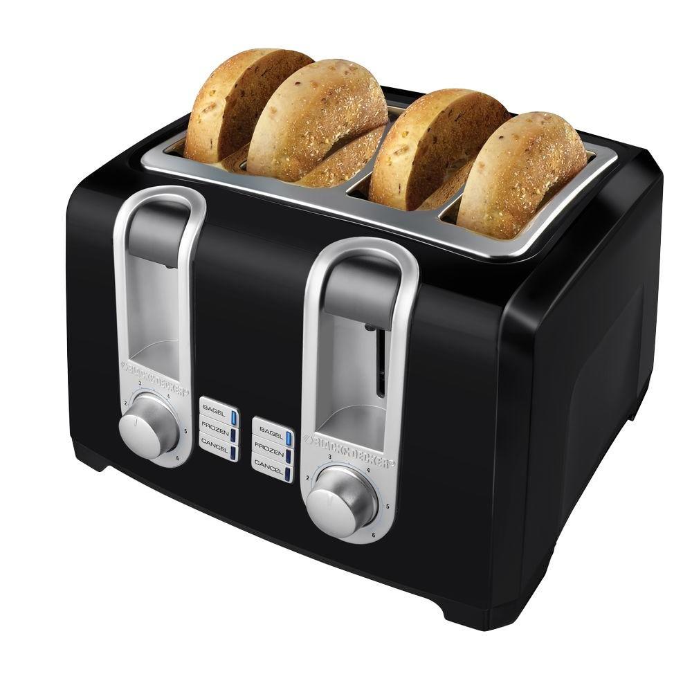 BLACK+DECKER 4-Slice Toaster in Black-DISCONTINUED