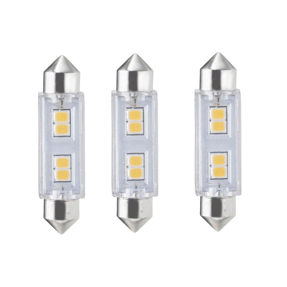 20-Watt Equivalent T3 Non-Dimmable Festoon LED Light Bulb Warm White Light (3-Pack)