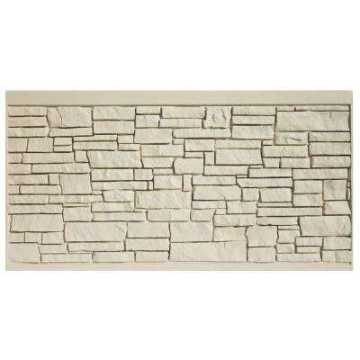 4 ft. H x 8 ft. W EcoStone Beige Composite Fence Panel
