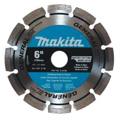 6 in. Steel Segmented General Purpose Diamond Blade