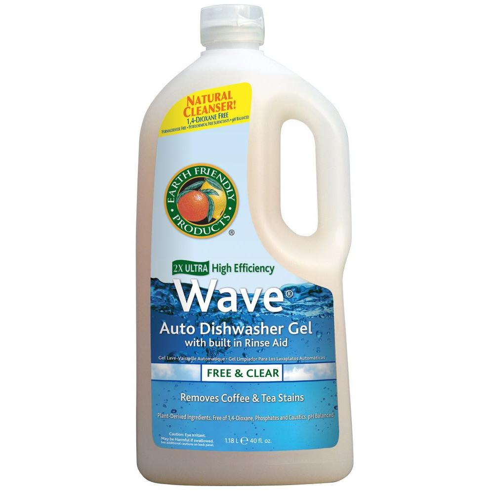 Earth Friendly Products 40 oz. Squeeze Bottle Free and Clear Wave Gel Dishwasher Detergent