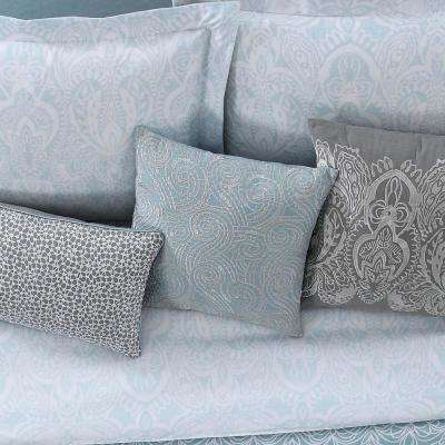 Ombre Lace Blue 16 in. Square Pillow
