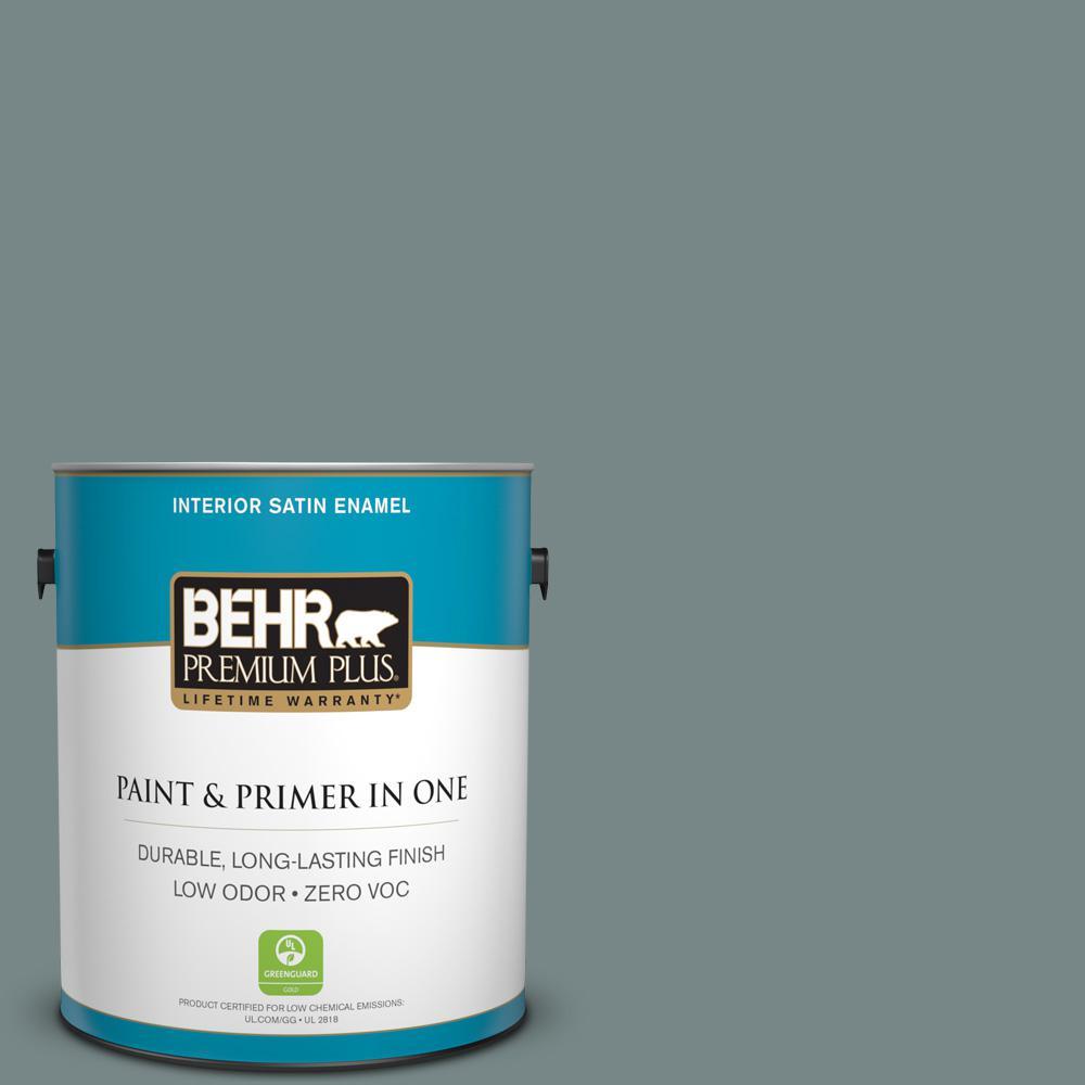 1 gal. #PPU12-16 Juniper Ash Zero VOC Satin Enamel Interior Paint