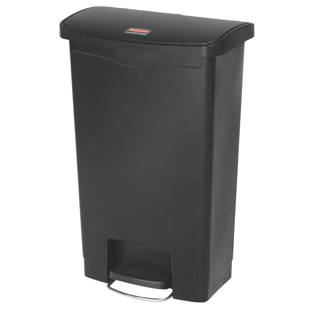 28.3 in. H x 11.5 in. W 13 Gal. Black Front