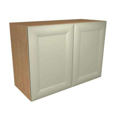 Dolomiti Ready to Assemble 30 x 21 x 12 in. Wall Cabinet with 2 Soft Close Doors in Almond