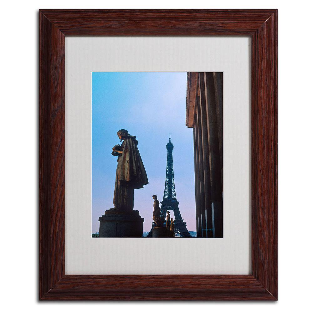 Trademark Fine Art 11 in. x 14 in. View of Eiffel from Trocadero Matted Framed Art