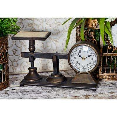 Multi-Colored Scale-Inspired Vintage Table Clock