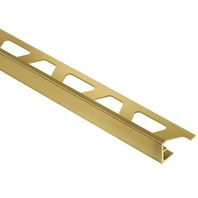 Schiene Solid Brass 7/16 in. x 8 ft. 2-1/2 in. Metal L-Angle Tile Edging Trim