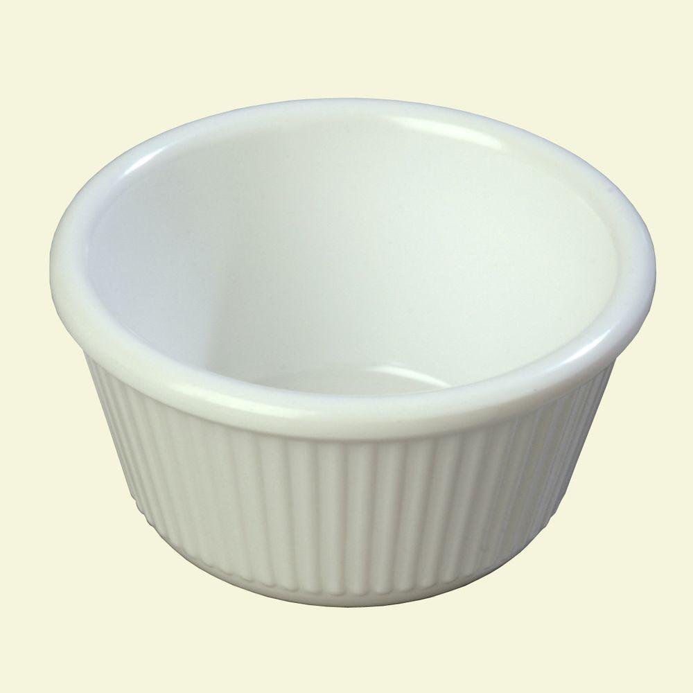 4 oz. Melamine Fluted Ramekin in White (Case of 48)