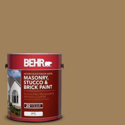 1-gal. #MS-45 Tuscany Gold Satin Interior/Exterior Masonry, Stucco and Brick Paint