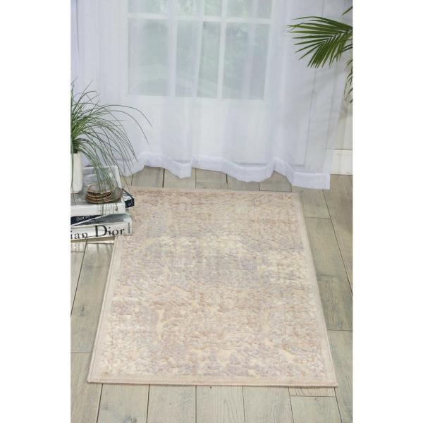 Reviews For Nourison Graphic Illusions Ivory 2 Ft X 4 Ft Persian Vintage Area Rug 131645 The Home Depot