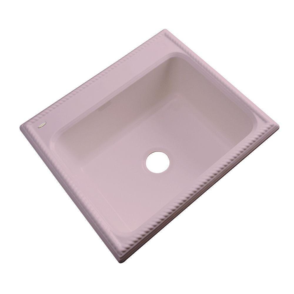Thermocast Wentworth Drop-In Acrylic 25 in. Single Bowl Kitchen Sink in Wild Rose