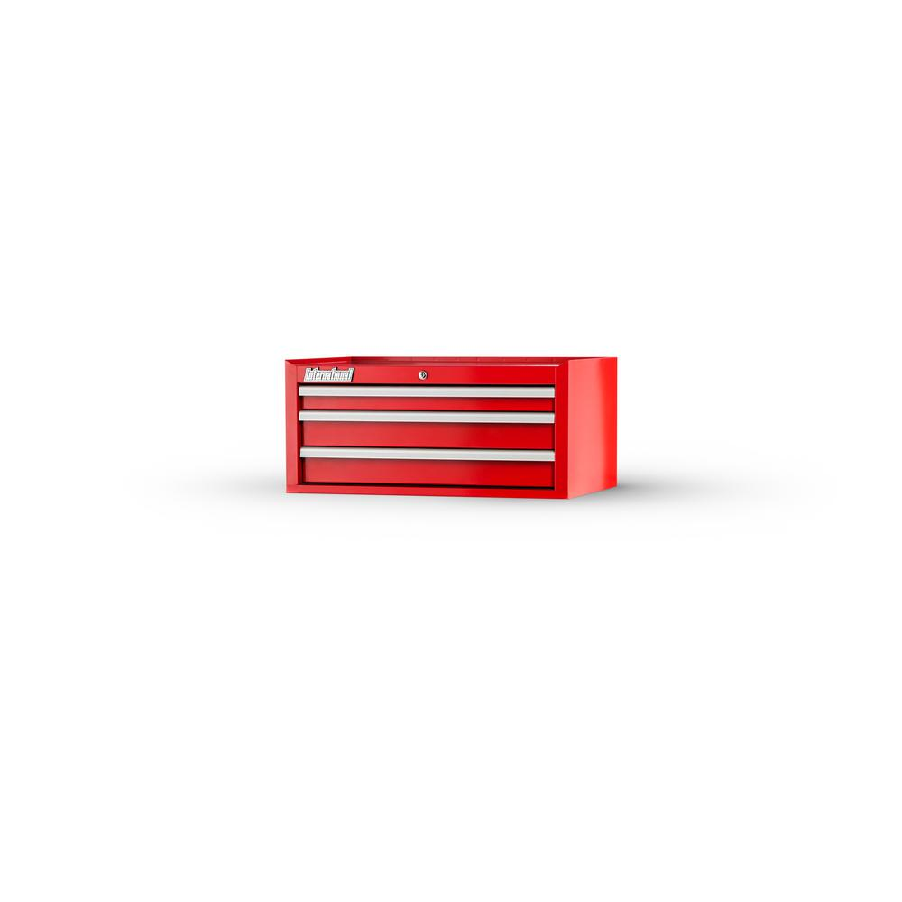 Tech Series 27 in. 3-Drawer Middle Chest Red