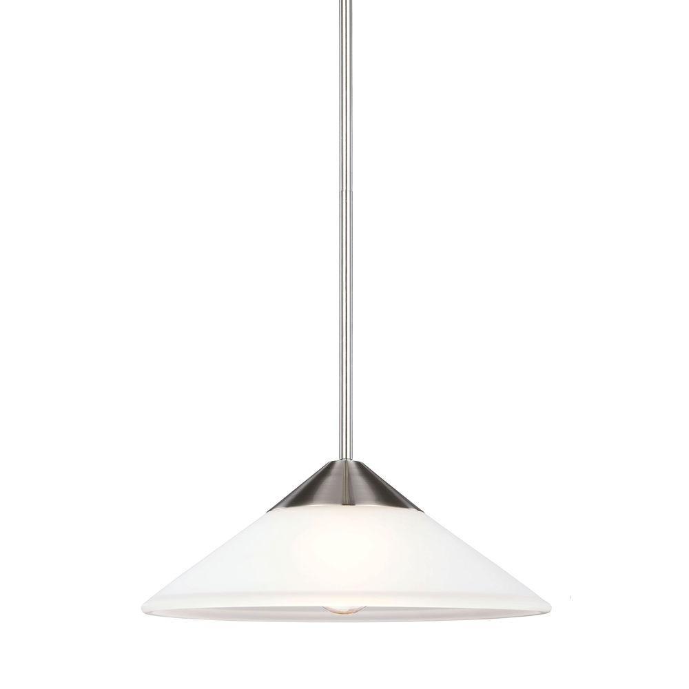 Ashburne 1-Light Brushed Nickel Indoor Pendant
