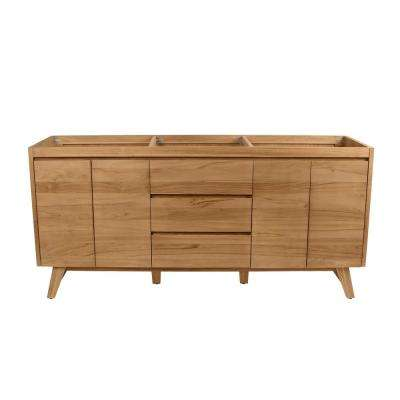 Coventry 72 in. Vanity Cabinet Only in Natural Teak