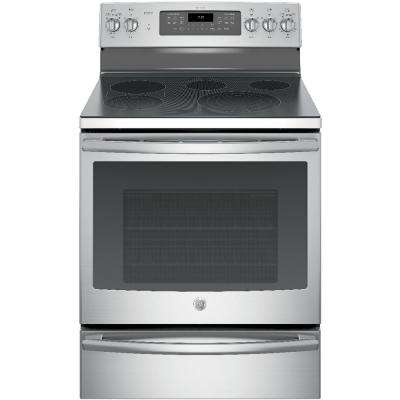 Profile 30 in. 5.3 cu. ft. Smart Electric Range with Self-Cleaning Convection Oven in Stainless Steel