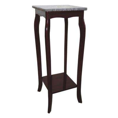Brown Marble Top Indoor Plant Stand